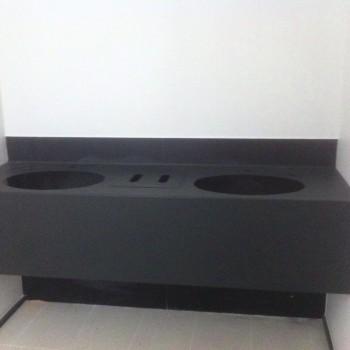 FAL bari -lavabo in accaio verniciato nero